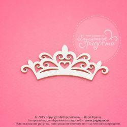 Чипборд. Ажурная корона