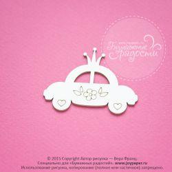 Чипборд. Машинка принцессы