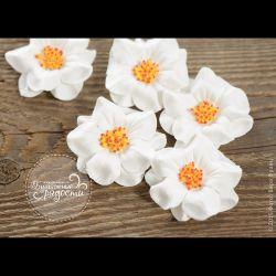 Белая тропическая роза 4 шт