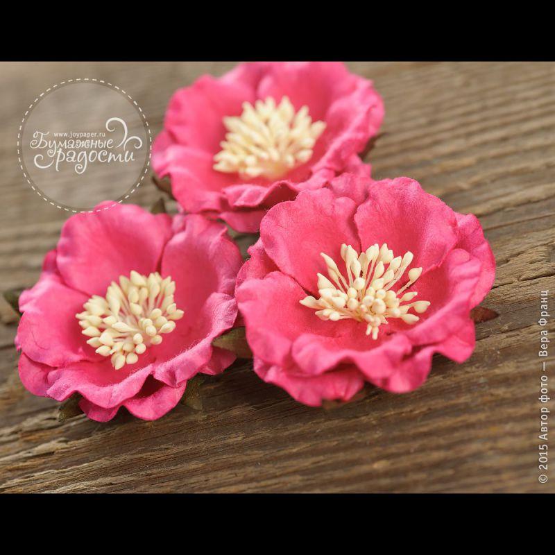Роза темно-розовая 4 шт