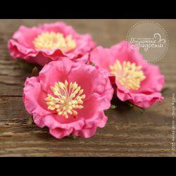 Роза розовая 4 шт