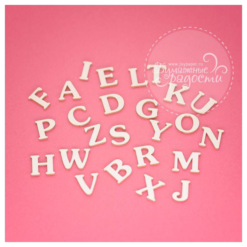 Чипборд. Буквы латинского алфавита