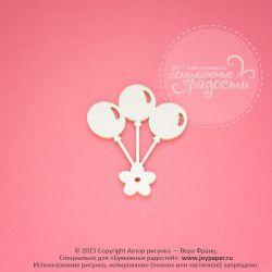 Воздушные шарики с цветочком