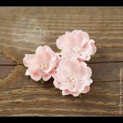 Волнистый цветочек нежно-розовый 6 шт