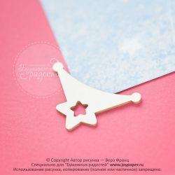 Уголок-держатель для фото со звездочкой