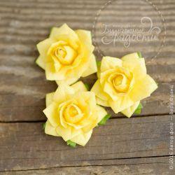 Острая розочка желтая 5 шт