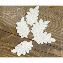 Листья папоротника белые 5 шт