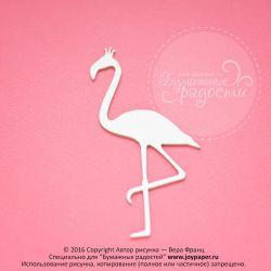 Чипборд. Фламинго с короной