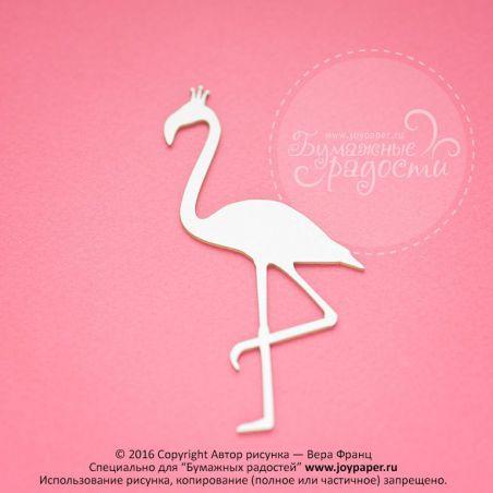 Фламинго с короной