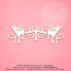 Чипборд. Свадебная арка с лебедями