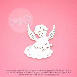 Чипборд. Ангел на облаке