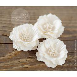Роза-кексик пышная белая 4 шт