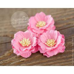 Роза-кексик пышная розовая 4 шт