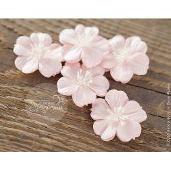 """Плоские цветы """"Воздушный поцелуй"""" нежно-розовые 5 шт"""