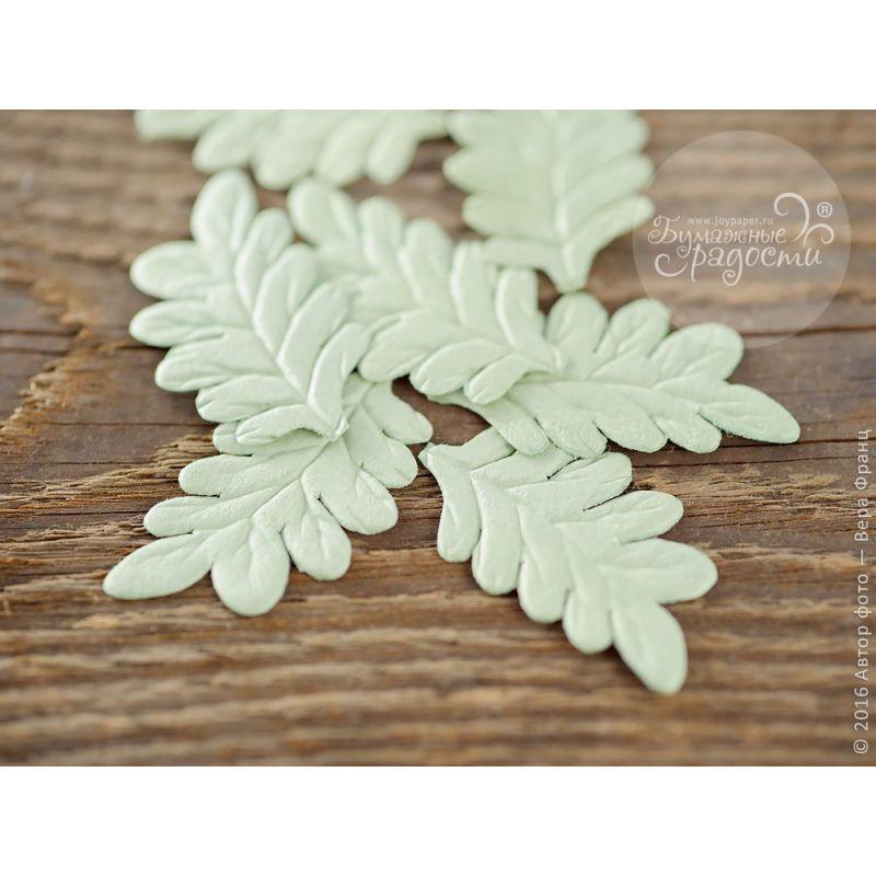 Листья папоротника зеленые 5 шт
