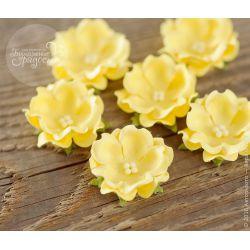 Волнистый цветочек желтый 6 шт