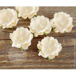 Волнистый цветочек кремовый 6 шт
