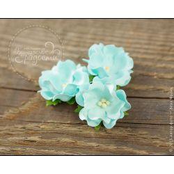 Волнистый цветочек небесно-голубой 6 шт