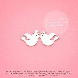 Чипборд. Две птички (жених и невеста)