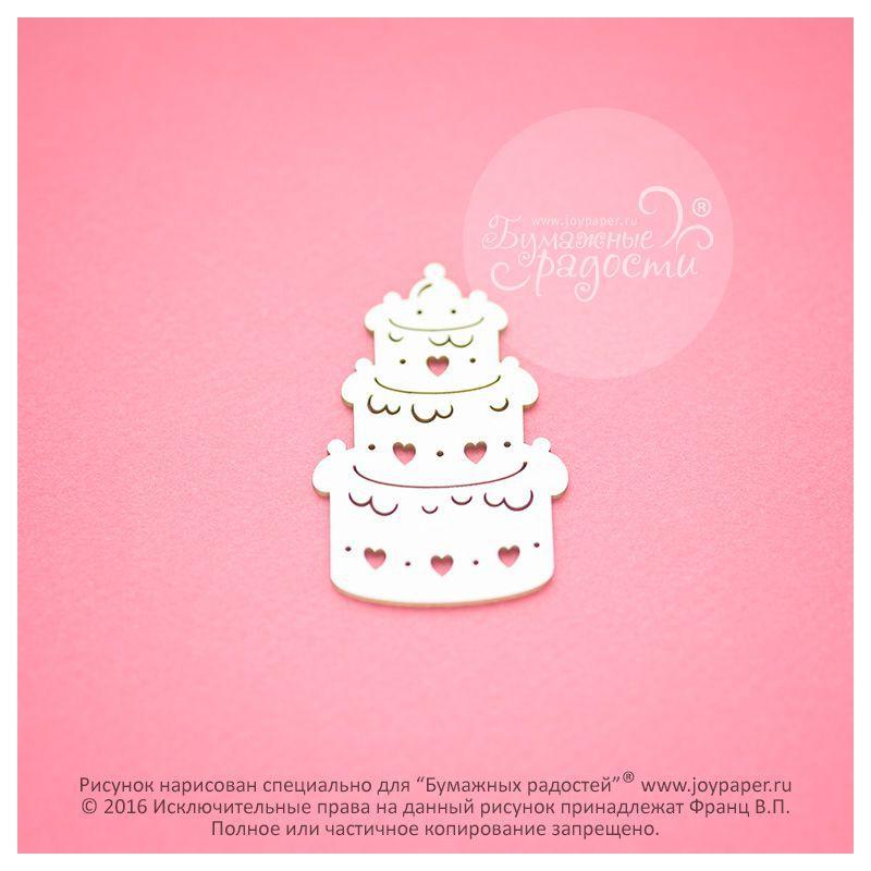 Чипборд. Праздничный торт