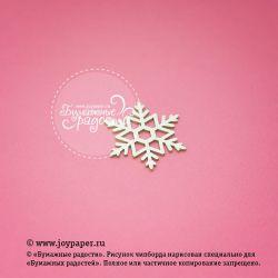 Чипборд. Снежинка