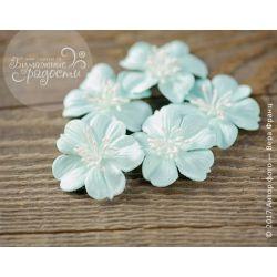 """Плоские цветы """"Воздушный поцелуй"""" голубые 5 шт"""