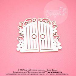 Винтажные цветочные ворота