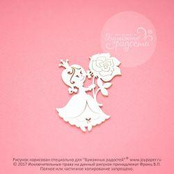 Принцесса с розой