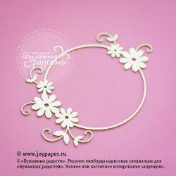 Круглая рамочка с цветочками