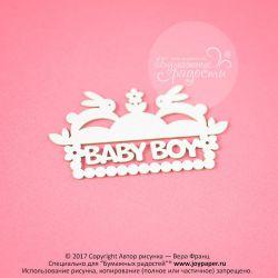 """""""baby boy"""" с зайками"""