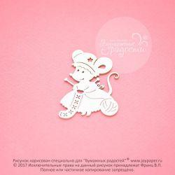 Чипборд. Мышка-рукодельница