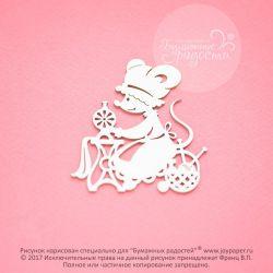 Чипборд. Мышка-рукодельница (швея)