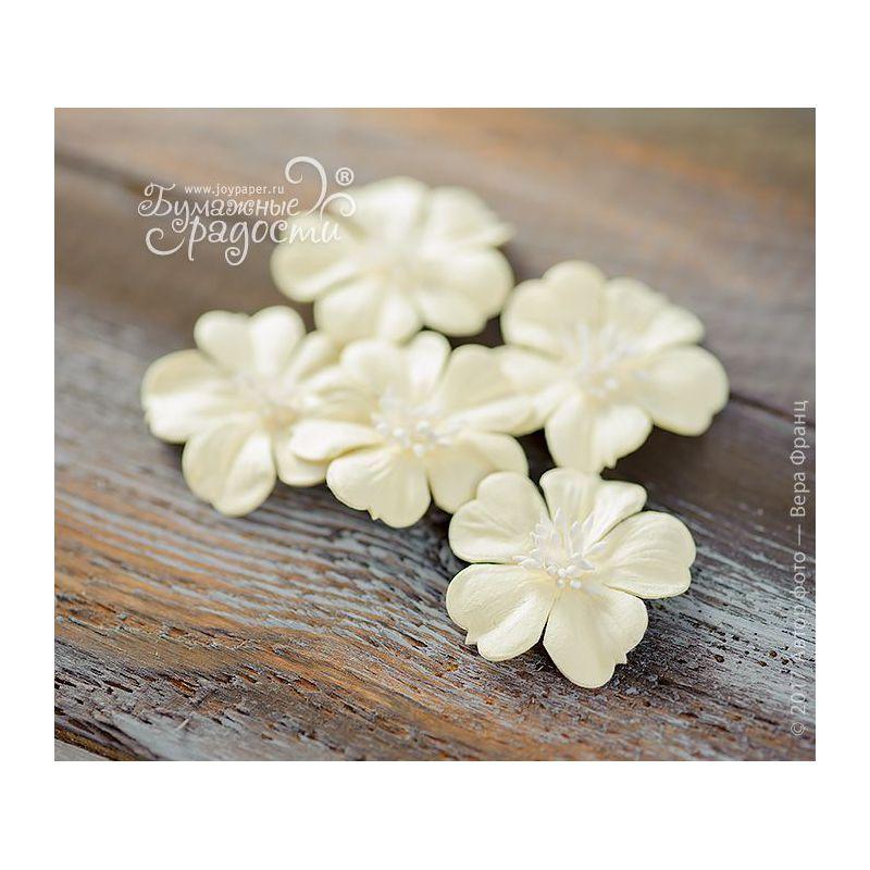"""Плоские цветы """"Воздушный поцелуй"""" светло-желтые 5 шт"""