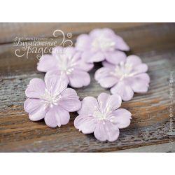 """Плоские цветы """"Воздушный поцелуй"""" сиреневые 5 шт"""