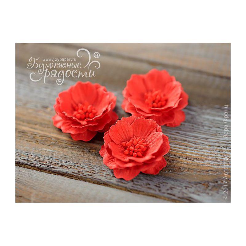 Роза-кексик пышная красная 4 шт