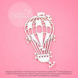 Чипборд. Воздушный шар с флажками