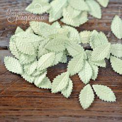 Листочки розы маленькие светло-зеленые 10 шт