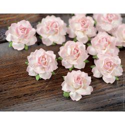 Мини-розочки розово-белые 4 шт.