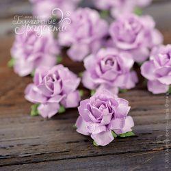 Мини-розочки фиолетовые 4 шт.