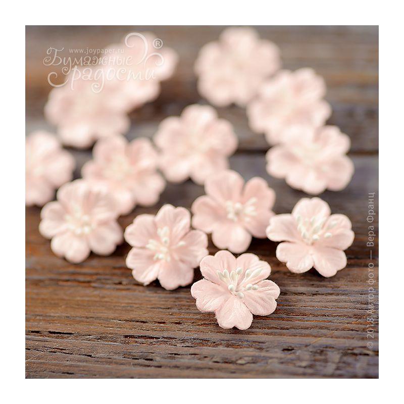"""Цветочки """"Дюймовочка"""" двухслойные нежно-розовые 5 шт."""
