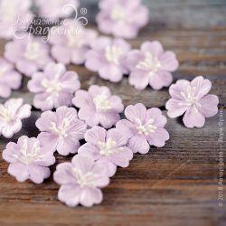 """Цветочки """"Дюймовочка"""" двухслойные фиолетовые 5 шт."""