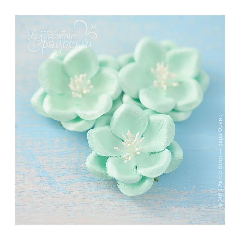 """Цветы """"Созвездие Ориона"""" небесно-голубые 4 шт."""