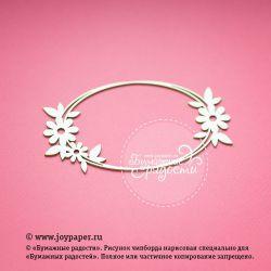 Овальная цветочная рамочка