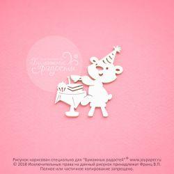 Мишка празднует день рождения