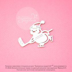 Чипборд. Пингвинчик-хоккеист