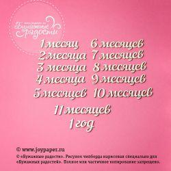 """Набор надписей """"12 месяцев"""""""