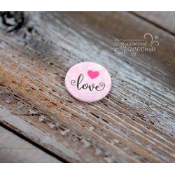 """Скрап-монетка """"love"""""""