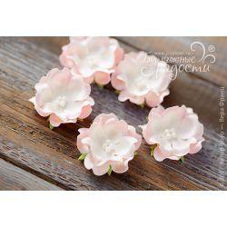 Волнистый цветочек розово-белый 6 шт.