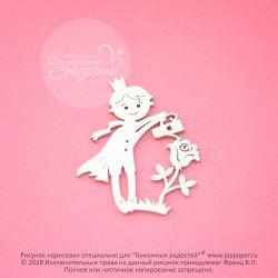 Чипборд. Принц с розой