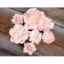 Pink set flowers 7 pcs